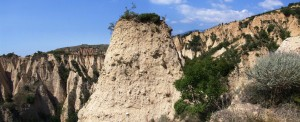 Hopeless efforts of vegetation to reduce the connectivity of erosion - earth pyramids in Southern Bulgaria by Jiri Jakubinsky