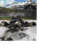Snow as transport media for sediment to an alpine lake by Katrin Meusburger